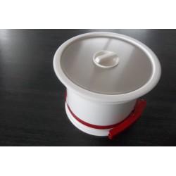 Vide déchets Prentout blanc INOX