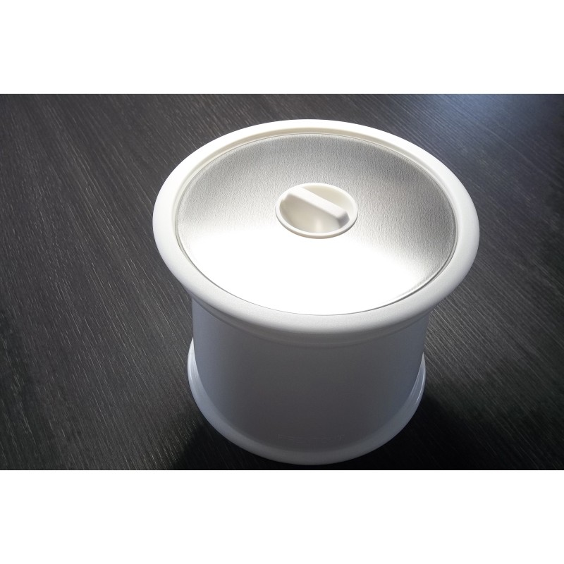 Système colonne Prentout blanc INOX