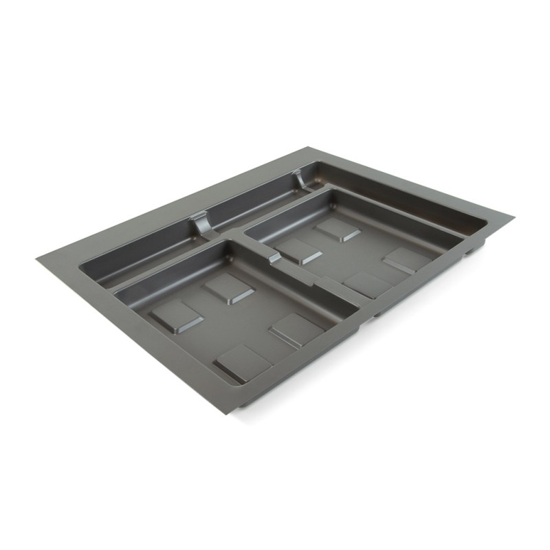Base 2 cavités pour poubelles tri-sélectif pour tiroir