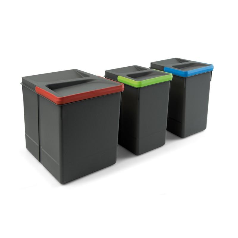 Conteneur poubelles 2 x 7 litres pour base 2-3-4 cavités