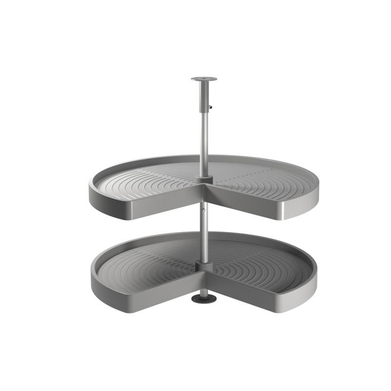 Plateau 3/4 tournant 2 niveaux pour meuble cuisine